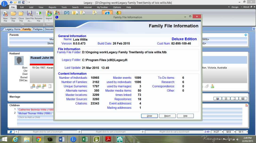 Family File Information