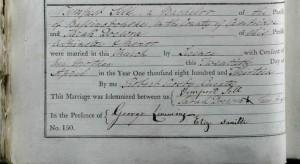 Tempest and Sarah Docwra marriage