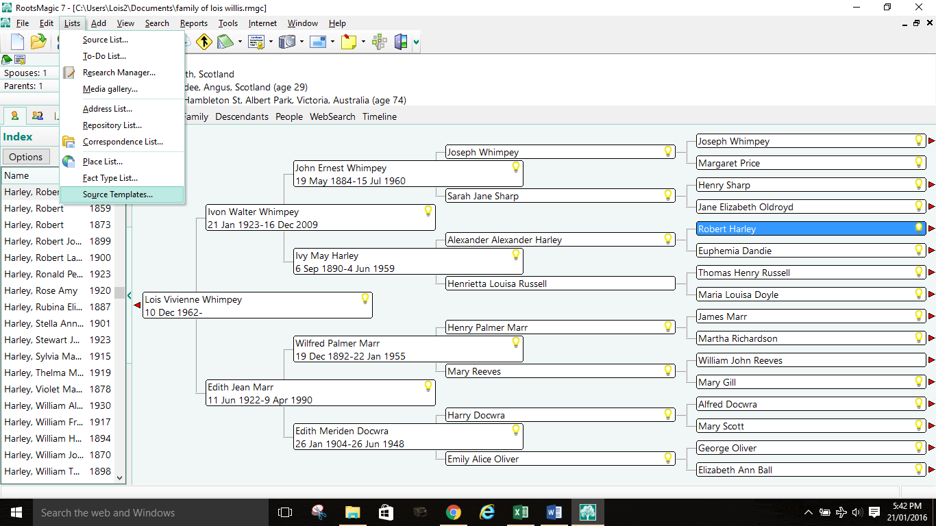 Creating your own source templates in RootsMagic 7 – Lois Willis ...