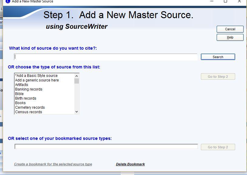 New Master Source