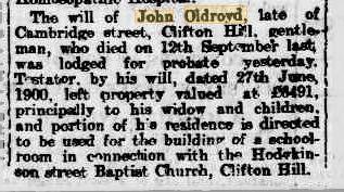 Will of John Oldroyd