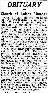 Edward Fitzgerald Russell obituary