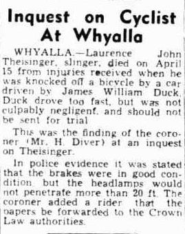 Inquest on cyclist at Whyalla