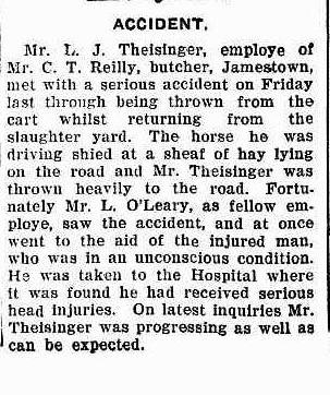 L J Theisinger accident