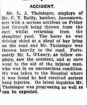L J Theisinger accident