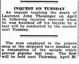 Laurence John Theisinger inquest