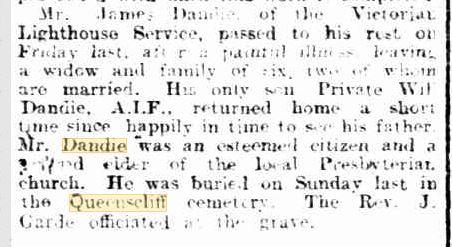 James Dandie death notice