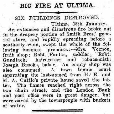 Big Fire at Ultima