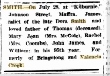 James Smith death notices