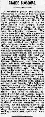 Smith Clyne marriage notice