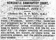 Thomas Henry Featherstone bankruptcy