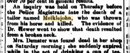 Inquiry into Meiklejohn death