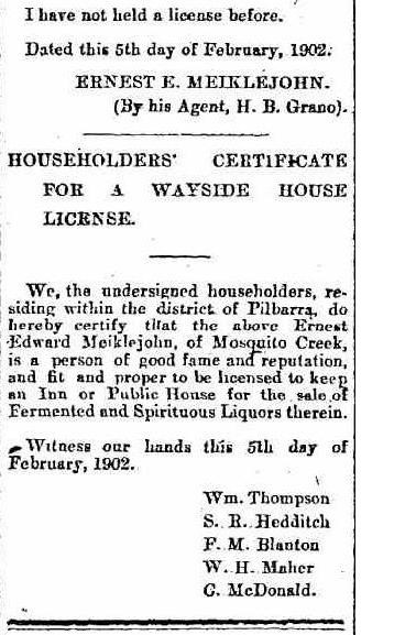Application for a Wayside House Licence