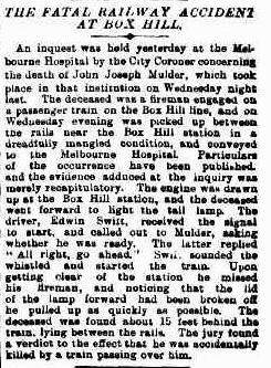 Fatal accident at Box Hill - the inquest