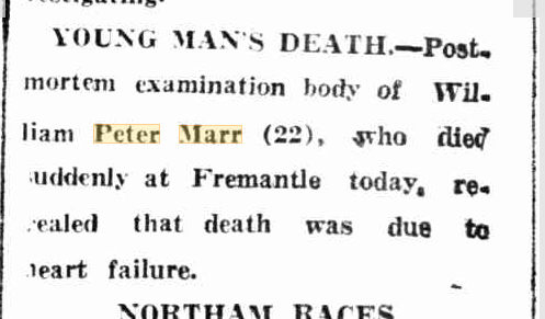 Young Man's Death