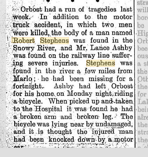 Orbost Tragedies