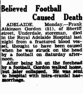 Believed football caused death