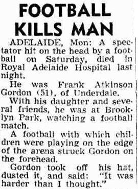 Football kills man