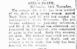 Girl's Death