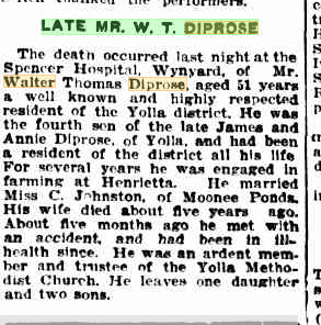 Late Mr. W. T. Diprose