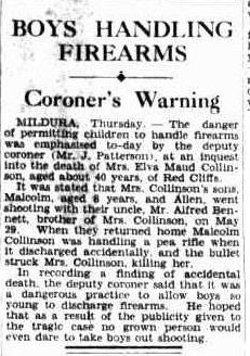 Boys Handling Firearms Coroner's Warning