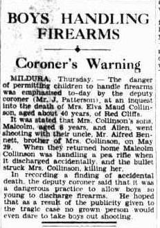 Boys Handling Firearms Coroner's Warning