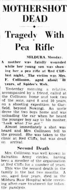 Mother shot dead