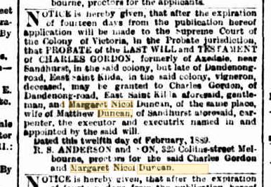 Charles Gordon last Will and Testament
