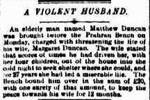 A Violent Husband