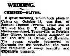 Christie Oliver wedding