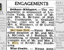 McComb Holt engagement