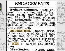McComb Holt engagement