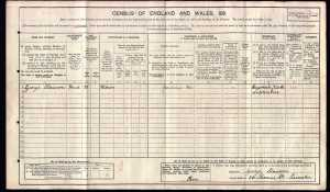 George Slawson 1911 census