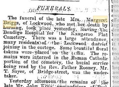 Margaret Briggs funeral notice