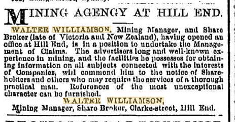 Walter Williamson, mining manager