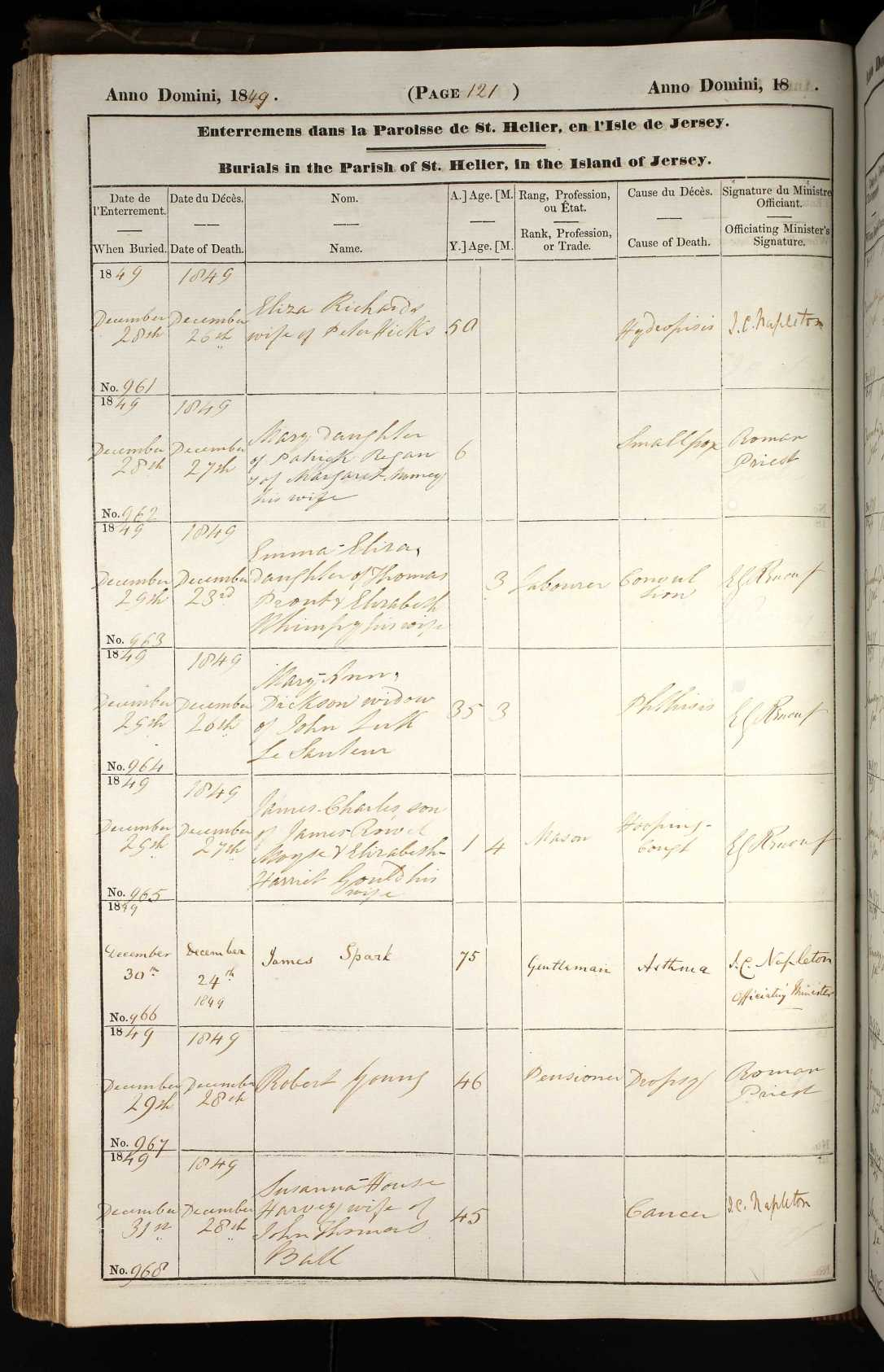 Emma Eliza Prout burial