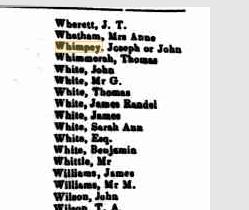 Unclaimed letters September 1848