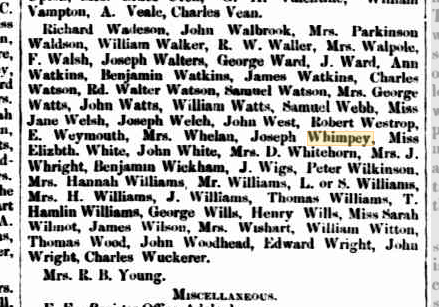 Unclaimed letters 1852