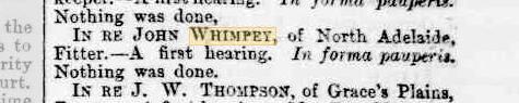 John Whimpey first hearing