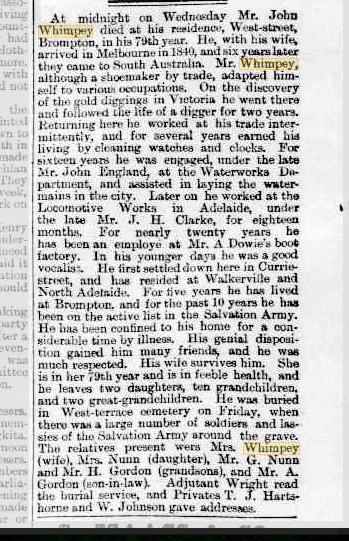 John Whimpey obituary