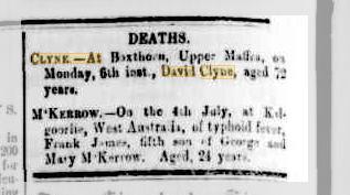 David Clyne death notice