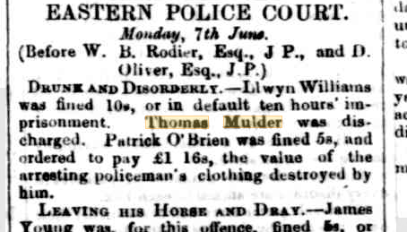 Eastern Police Court Drunk and Disorderly