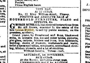 Louisa Mulder estate sale