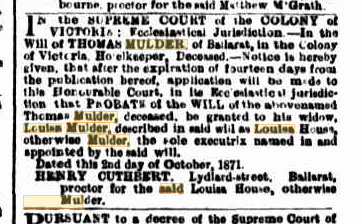 Thomas Mulder probate notice