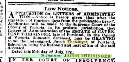 Letters of Administration
