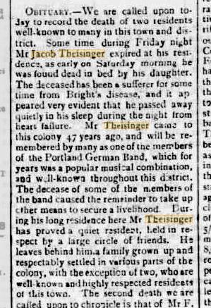 Jacob Theisinger obituary