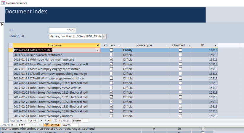 document index