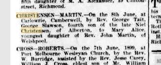 Christensen-Martin marriage notice