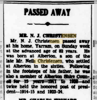 Mr. N. J. Christensen