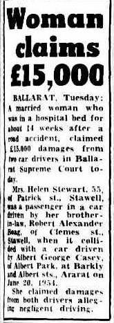 Woman claim £15000